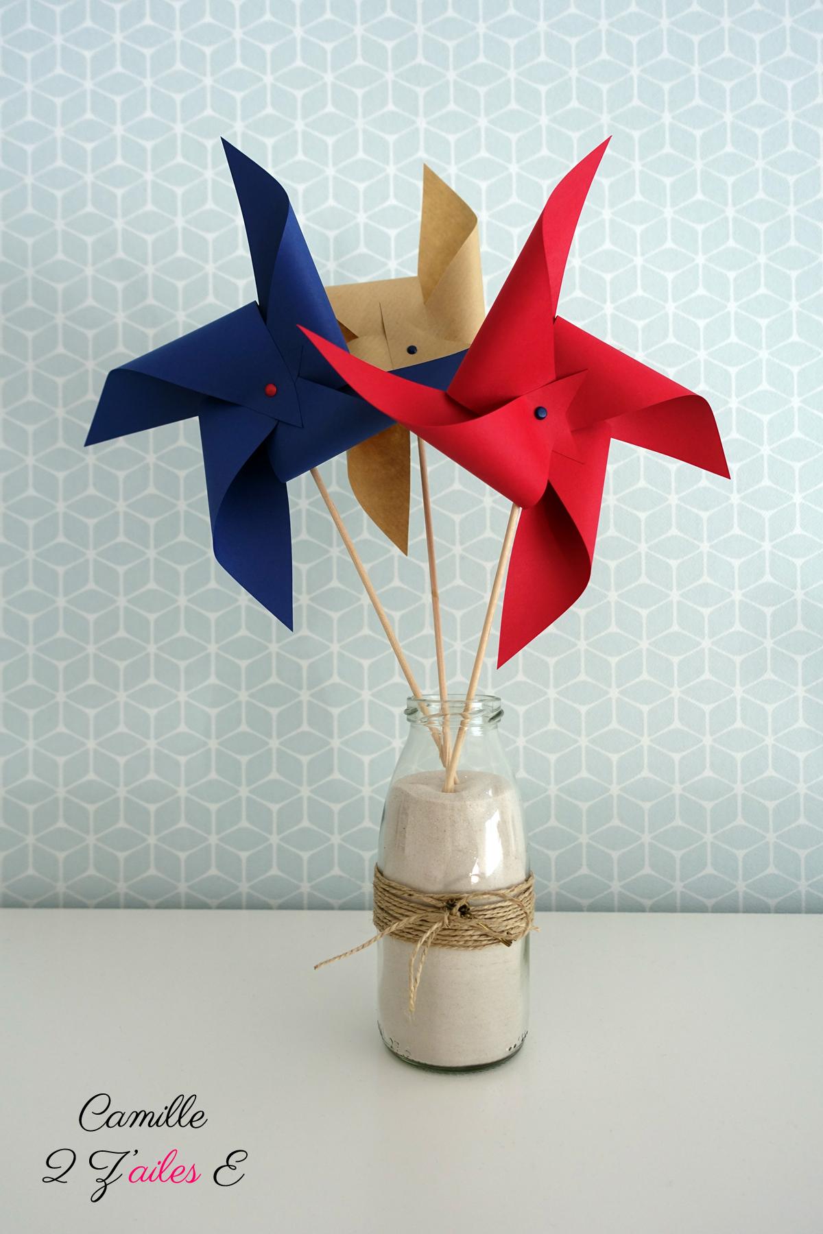 Moulin a vent activit manuelle fashion designs - Moulin a vent papier ...