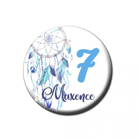 badge dreamcatcher bleu