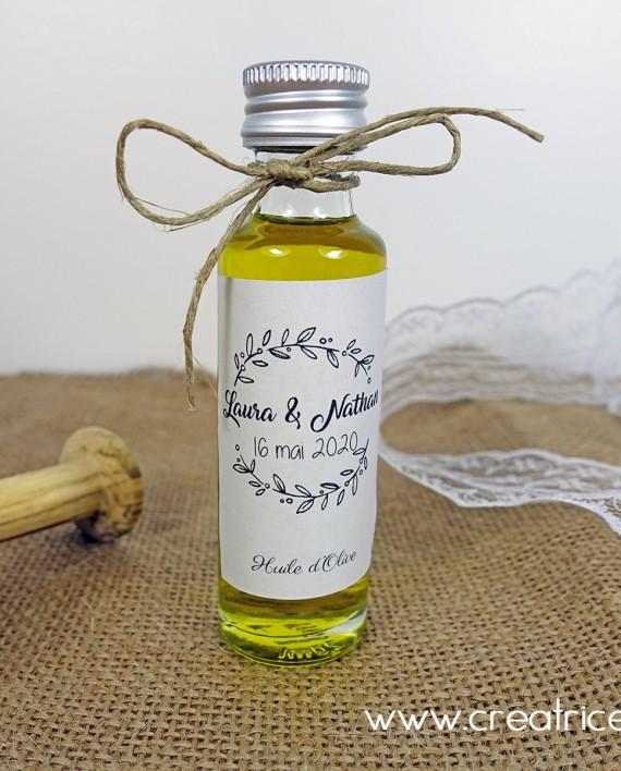 mini fiole huile olive personnalise mariage 1