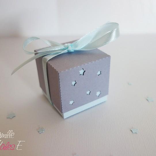 boite double étoile bleu pastel gris