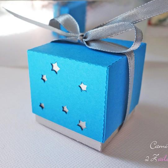 boite double étoile gris bleu turquoise