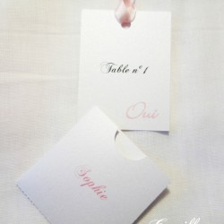 escort cards oui blanc rose 2