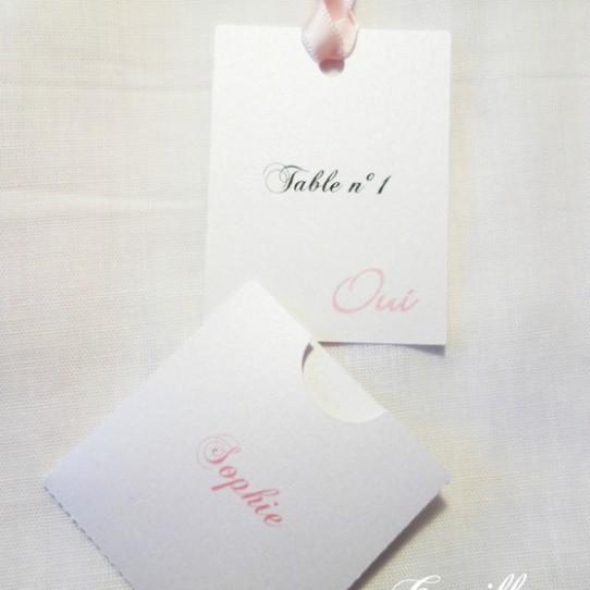 escort cards oui blanc rose 2