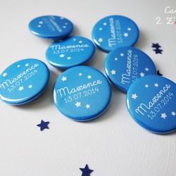 badge 32 étoile bleu turquoise