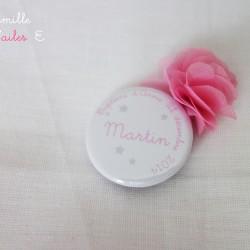 badge marque-place étoile rose