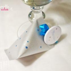 berlingot étoile argent bleu turquoise