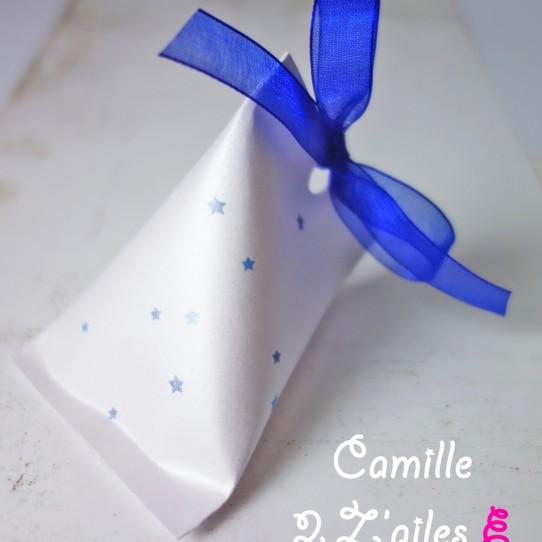 berlingot étoile blanc irisé bleu nuit
