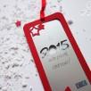 carte voeux 2015 marque-page étoilé rouge argent 2