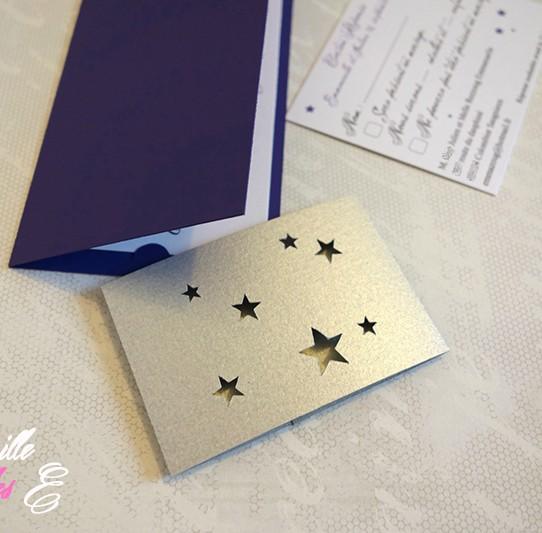 faire-part long bandeau étoile violet 4