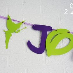 guirlande anniversaire clochette vert violet 2
