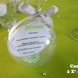 menu bulle plexi vert anis