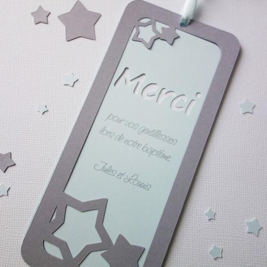 remerciement marque-page étoile bleu pastel gris 2