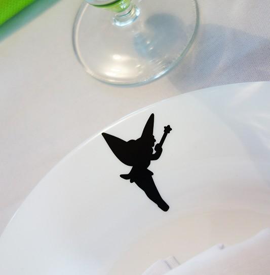 stickers clochette noir