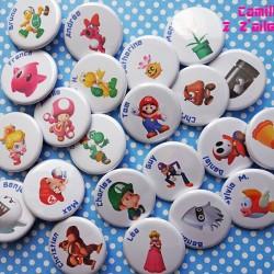 badge magnet 32 mario personnage