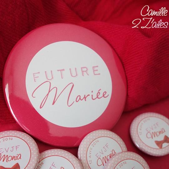 badge magnet miroir 75 future mariée