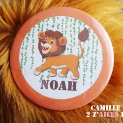 badge magnet miroir 75 lion