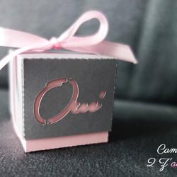 boite double oui gris acier rose
