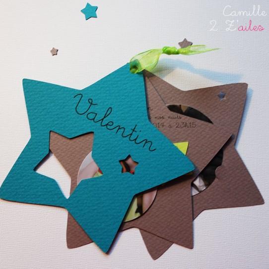 faire-part étoile naissance bermude taupe anis photo 7