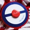 faire-part bonnet marin badge magnet bleu nuit blanc rouge 1