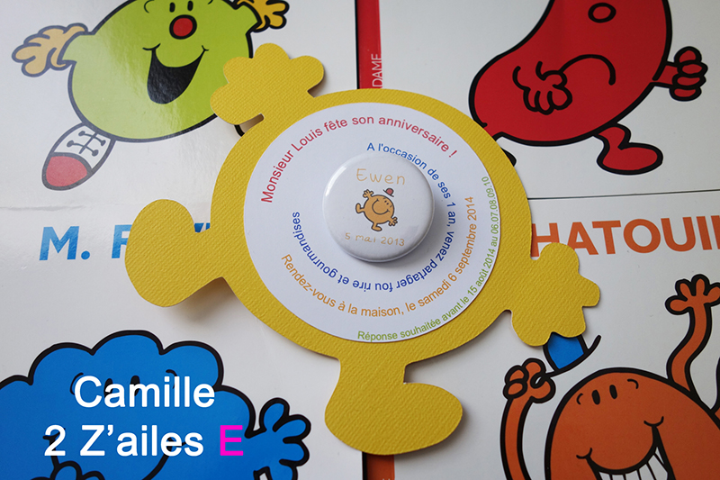 Camille 2 Z Ailes E Invitation Monsieur Madame