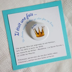 invitation princesse badge magnet 32