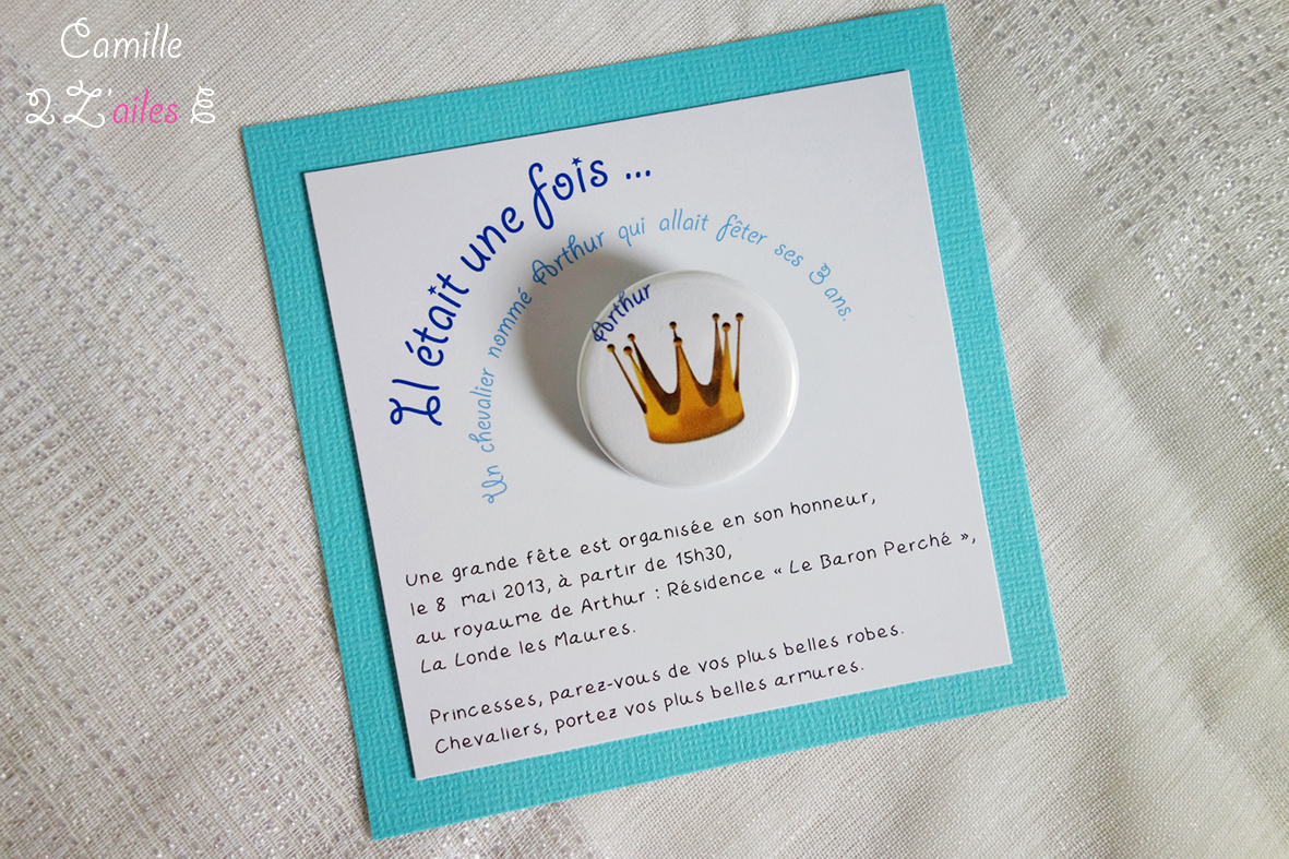 Camille 2 Z Ailes E Invitation Carree Prince Badge Magnet