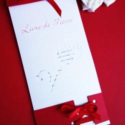 livret de messe rose rouge blanc irisé 1
