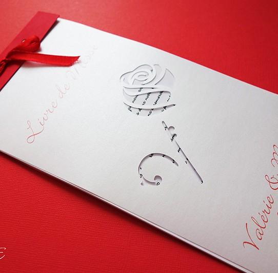 livret de messe rose rouge blanc irisé 5