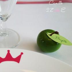 marque-place pomme verte