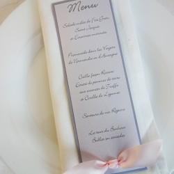 menu élégance flot gris rose poudré 1