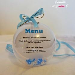 menu boule plexi bleu clair