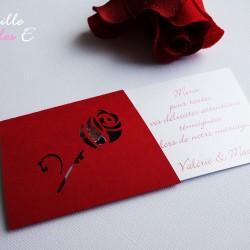 remerciement mariage rose rouge1