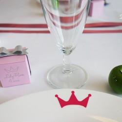stickers éphémère couronne fuchsia