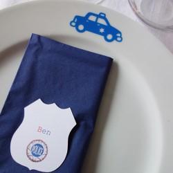 stickers éphémère voiture police