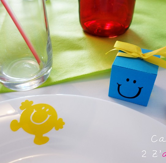 stickers éphémères monsieur jaune