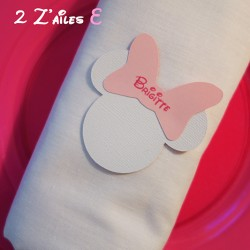 marque-place minnie blanc rose
