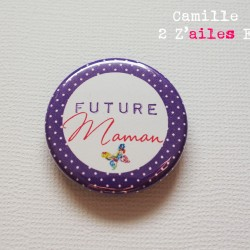 badge annonce grossesse maman 1