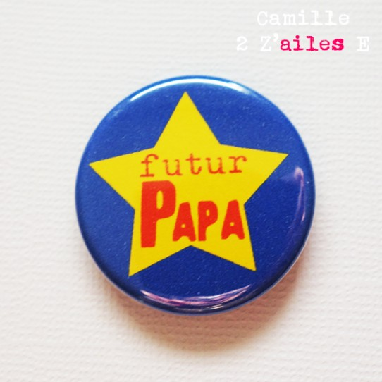 badge annonce grossesse papa 1