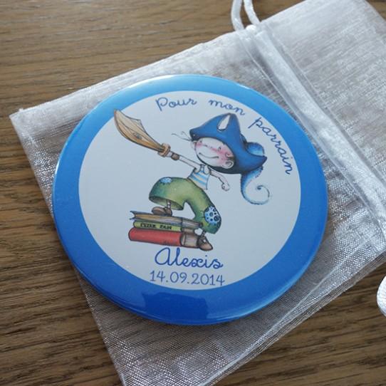 miroir magnet badge 75 pirate 1