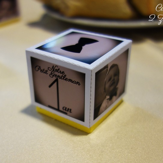 boite dragées photo sepia jaune 4