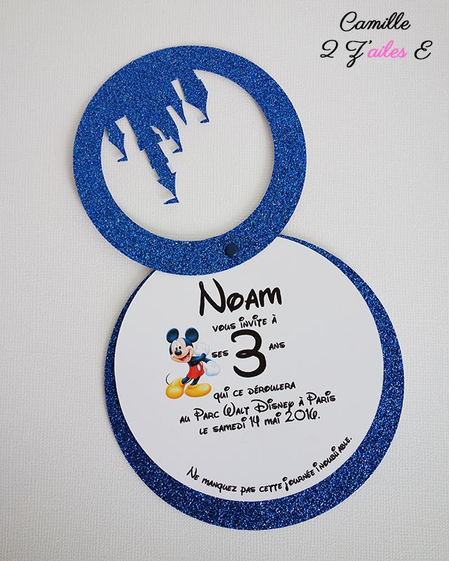 Favoris Camille 2 z'ailes E | Invitation Le Monde de Disney JS98