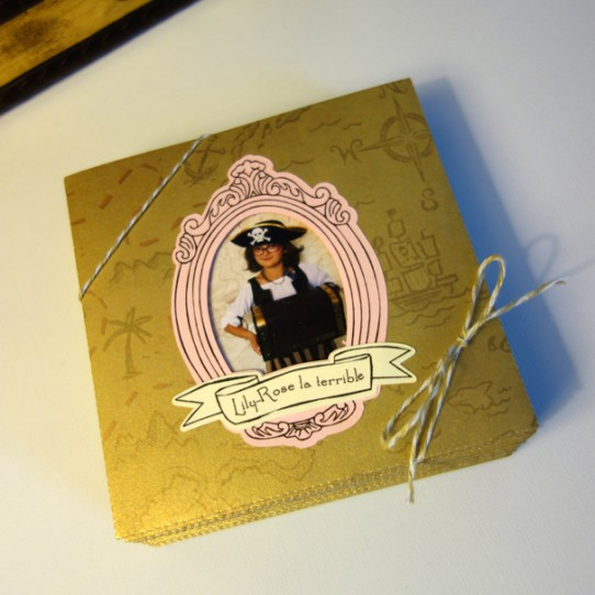 faire-part pochette pirate cadre photo  ficelle 1