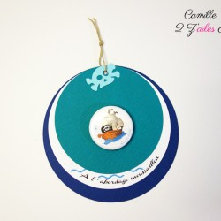 faire-part rond pirate badge magnet 1