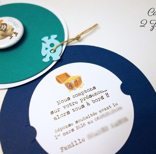 faire-part rond pirate badge magnet 5bis