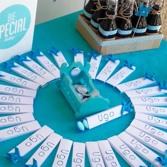 boite étui prénom moulin vent blanc bleu turquoise