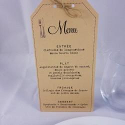 menu vintage kraft 1