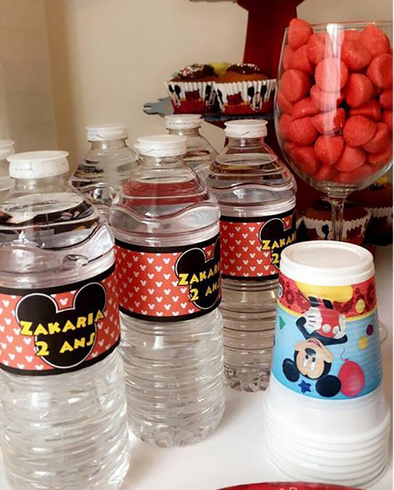 autocollant bouteille mickey