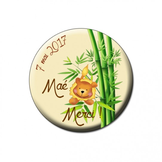 badge jungle baby lion bambou