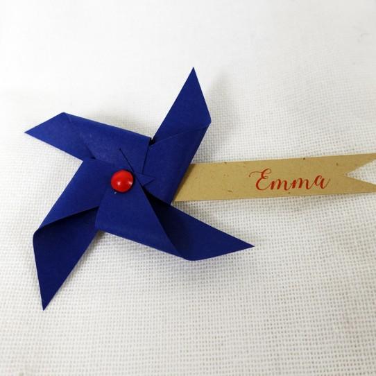 marque-place moulin vent rouge bleu nuit kraft 2