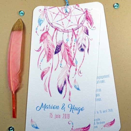 faire-part attrape reve rose bleu 3